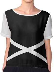 Team Skull Design Chiffon Top