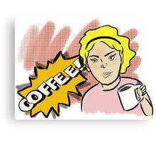 POW! COFFEE! 2 Canvas Print