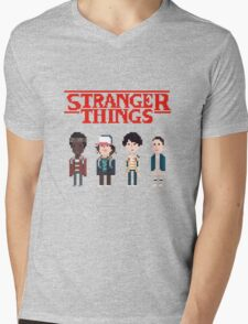 Stranger Things 8-Bit Mens V-Neck T-Shirt