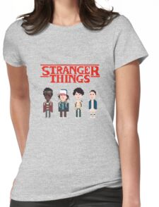 Stranger Things 8-Bit Womens Fitted T-Shirt