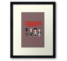 Stranger Things 8-Bit Framed Print