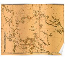 Map Of The North Pole 1879 Poster