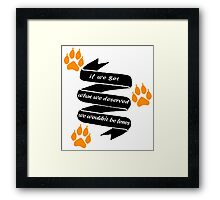 """The Foxhole Court – """"What We Deserved"""" Framed Print"""