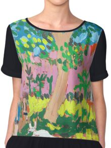 Dog Day in the Park Chiffon Top
