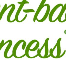 plant-based princess (green) Sticker