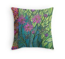 Floral composition Throw Pillow