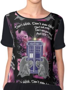 Weeping For The Tardis Chiffon Top