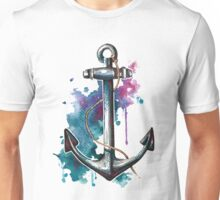 Nautical Watercolor Anchor Unisex T-Shirt