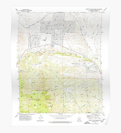 USGS TOPO Map Arizona AZ Prescott Valley South 312991 1973 24000 Poster