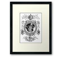 Fancy Skeleton B&W Framed Print