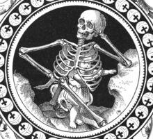 Fancy Skeleton B&W Sticker