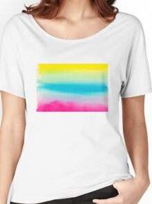 Beautiful Watercolor Rainbow Women's Relaxed Fit T-Shirt