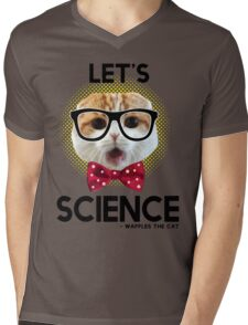 Waffles the Cat - Let's Science Mens V-Neck T-Shirt