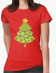 Polka Dot Christmas Lattice Design Womens Fitted T-Shirt