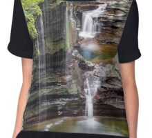 Rainbow Falls and the Triple Cascade Chiffon Top
