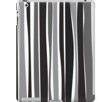 Retro Stripe Black/White/Grey iPad Case/Skin
