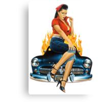Mercury Rising Pin Up Design Canvas Print
