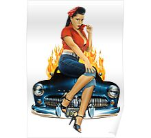 Mercury Rising Pin Up Design Poster