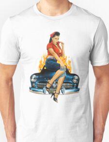 Mercury Rising Pin Up Design T-Shirt