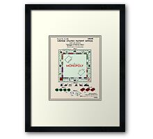 Monopoly Patent - Color Framed Print