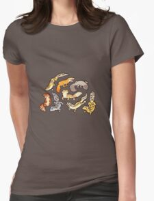 chub gecko babies Womens Fitted T-Shirt