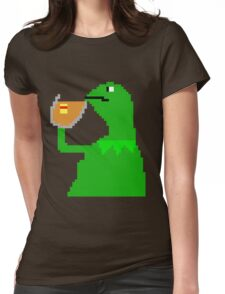 None Of My Business Meme Frog Womens Fitted T-Shirt