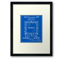 Monopoly Patent - Blueprint Framed Print