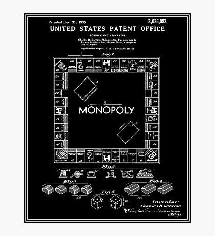 Monopoly Patent - Black Photographic Print