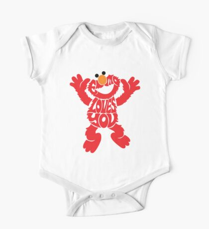 Elmo Loves you One Piece - Short Sleeve