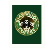 Starbrook Coffee Grunge Art Print