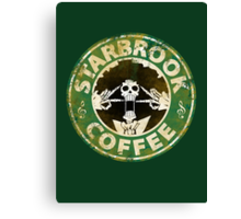 Starbrook Coffee Grunge Canvas Print