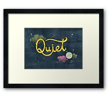 The sound of silence Framed Print