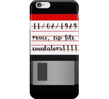 Old school floppy disk memories iPhone Case/Skin