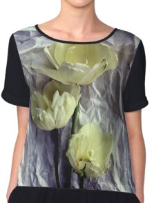 Paper Whites...Tulips, That Is Chiffon Top