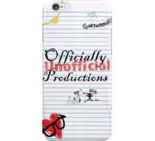 Officially Unofficial Productions- College Ruled Mayhem  iPhone Case/Skin