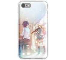 Arima Kousei & Kaori Miyazono ( Shigatsu Wa Kimi No Uso ) iPhone Case/Skin