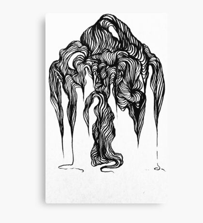 Micron brush pen drawing Canvas Print