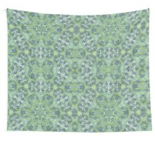 Green Lace Pattern Wall Tapestry