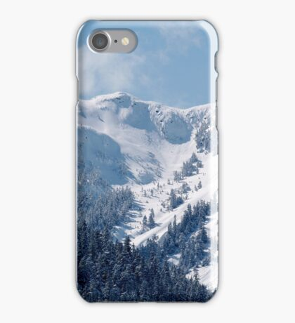 Blue sky with snow on Mountains iPhone Case/Skin