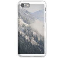 Clouds over Snow Peaks iPhone Case/Skin