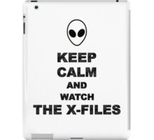 Keep Calm and Watch The X-Files iPad Case/Skin