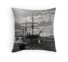 HMS Warrior  Throw Pillow
