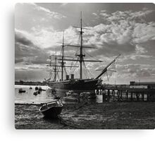 HMS Warrior  Canvas Print