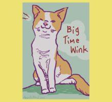 Big Time Wink Cat Kids Tee