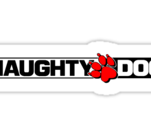 Naughty Dog Sticker