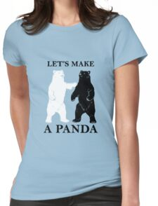 Let's Make A Panda Womens Fitted T-Shirt