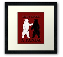 Let's Make A Panda Framed Print