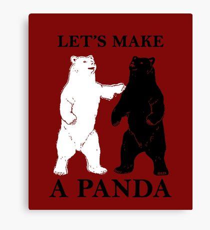 Let's Make A Panda Canvas Print