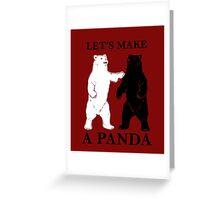 Let's Make A Panda Greeting Card
