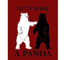 Let's Make A Panda Photographic Print